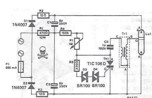 Schematic Of The Strobe Light Circuit - Wiring Diagram Update
