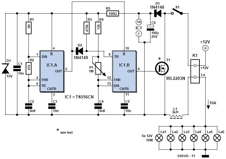 12V Light Dimmer Circuit