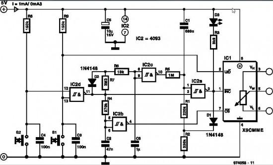 circuit diagram of digital potentiometer