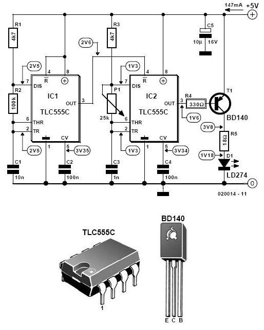 infrared transmitter circuit schematic