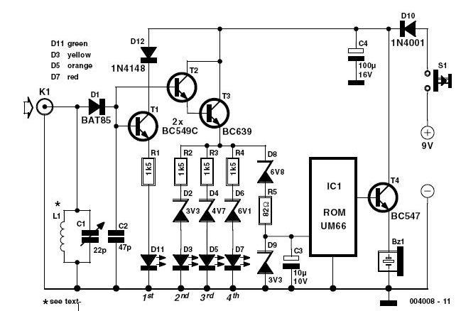 144 mhz rf detector circuit schematic