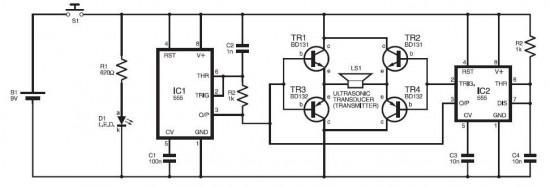 schematicscom dog repellent ultrasonic circuit