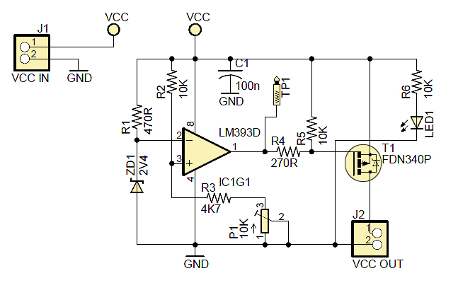 power supply voltage monitor circuit