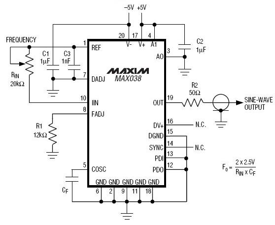audio frequency generator circuit ic schematics