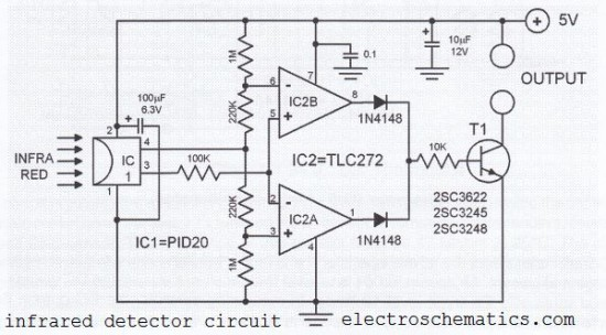 infrared detector circuit schematic