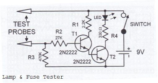 circuit diagram of test lamp