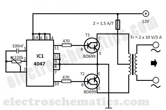 converter dc to ac inverter circuit diagram
