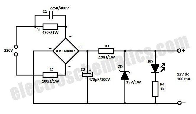68 volt transformerless power supply