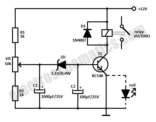 rc relay switch schematic