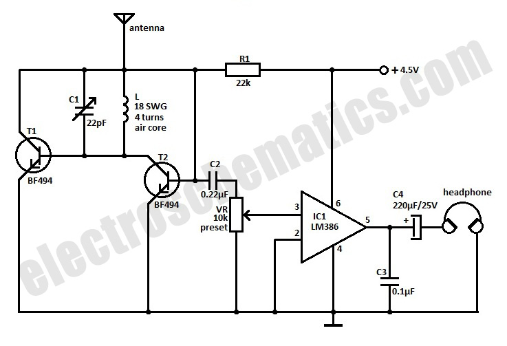 small fm radio schematic