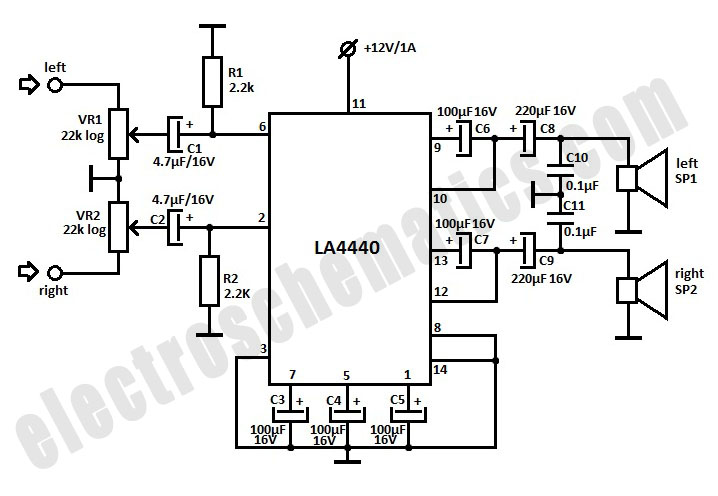4 channel audio mixer circuit diagram wiring