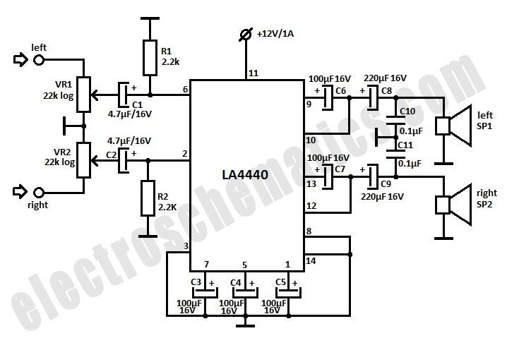 la4440 stereo amplifier d mohankumar audio amplifier la4440