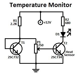 simple temperature monitor circuit