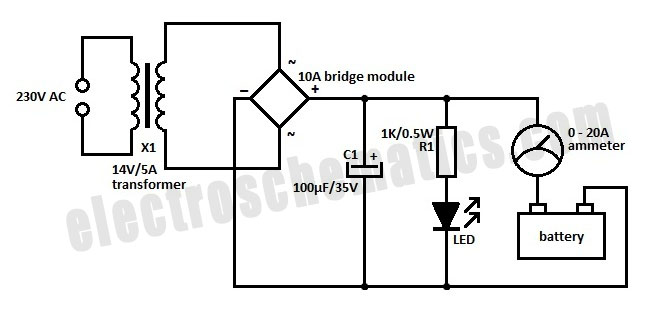 battery charger circuit diagram on 6 volt battery wiring diagram