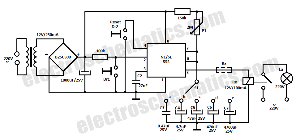 555 time delay relay circuit