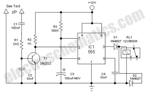 experimental pendulum clock circuit schematic