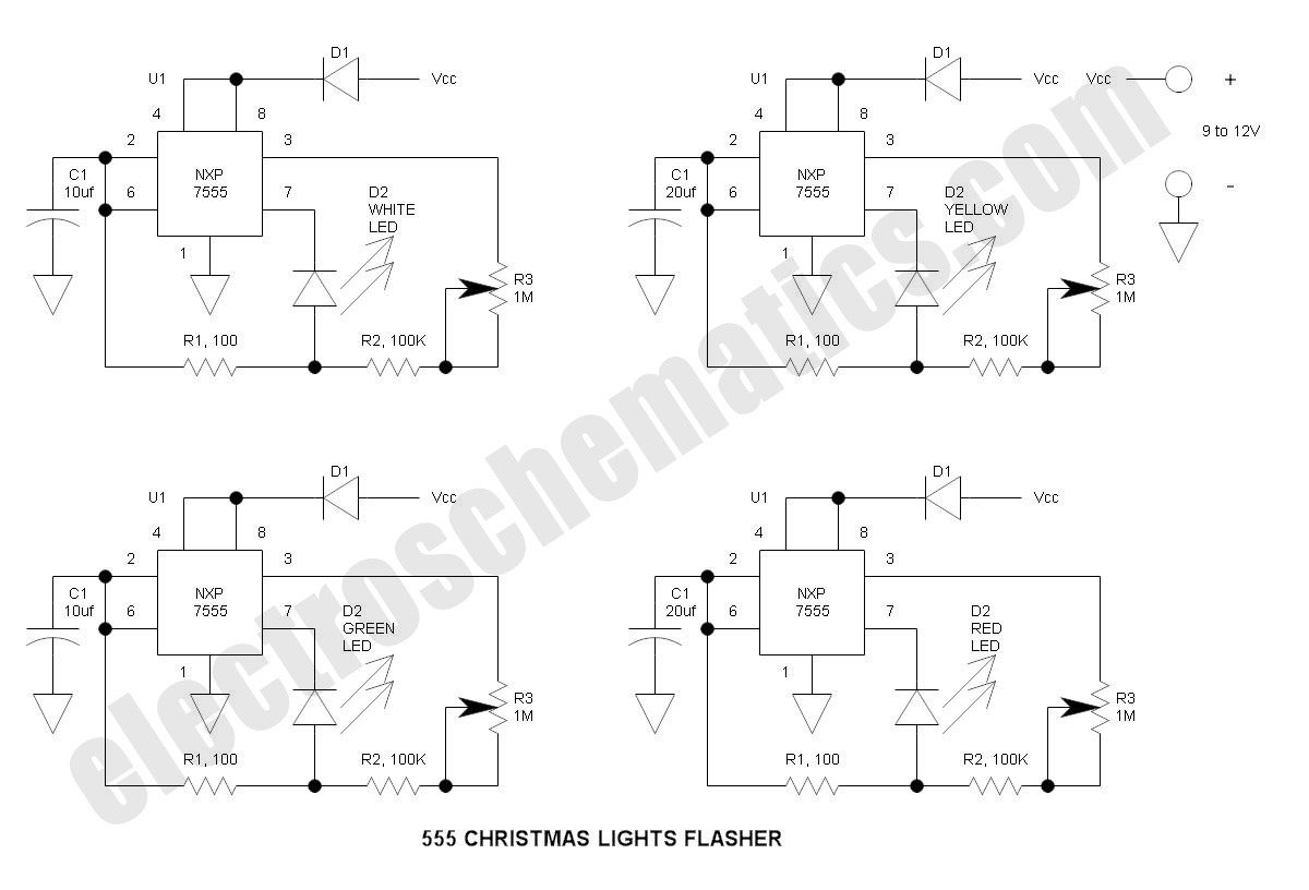 555 christmas lights
