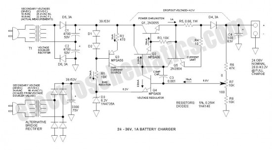24v battery charger schematic all