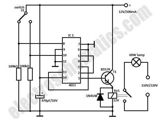 automatic door light switch circuit schematic