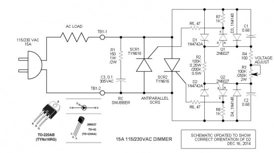 scr triggering electronic circuits and diagramelectronics