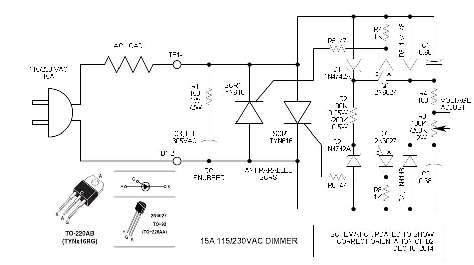 SCR Phase Control Speed Control/Dimmer