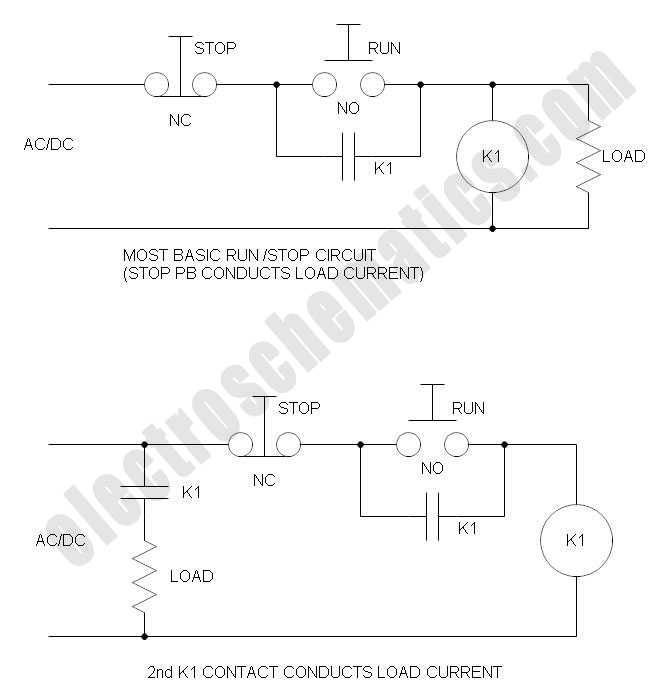 Run/Stop Relay Circuit