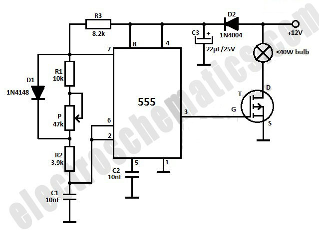 circuit diagram led light bulb