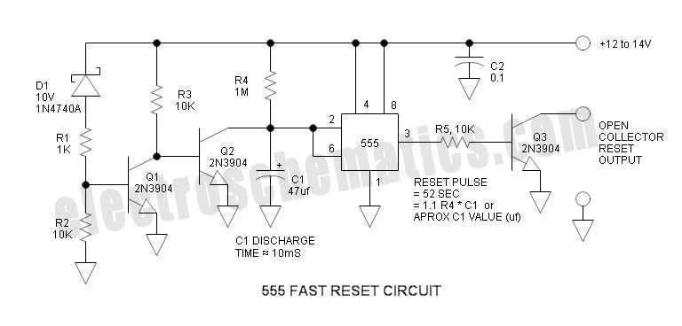 555 Fast Reset Timer