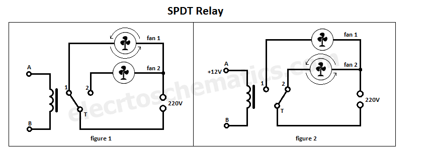 single pole single throw relay wiring diagram