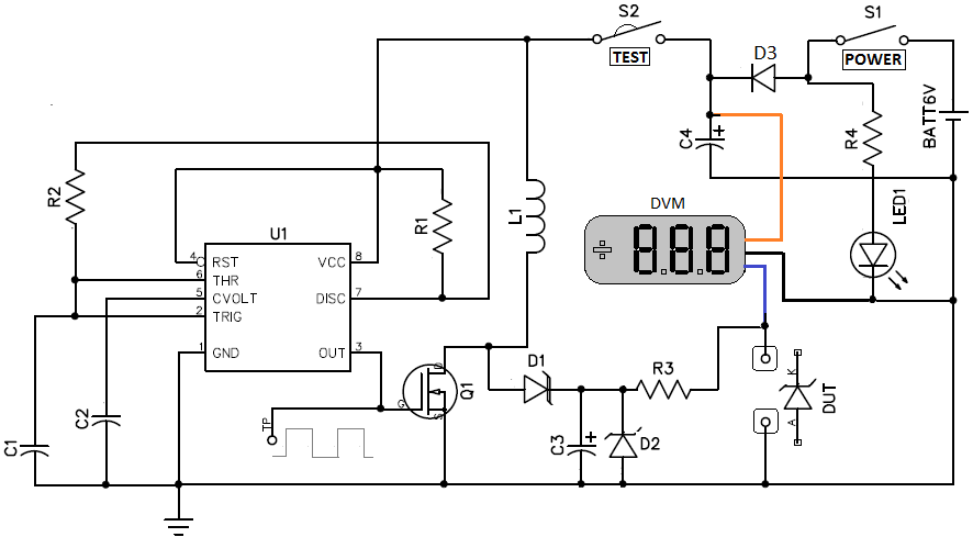transistor and diode tester circuit diagram zener test zener diode