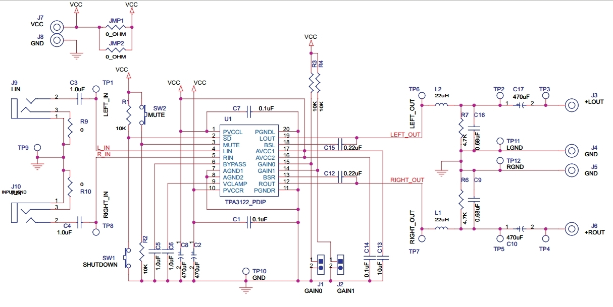 class d audio amplifier circuit