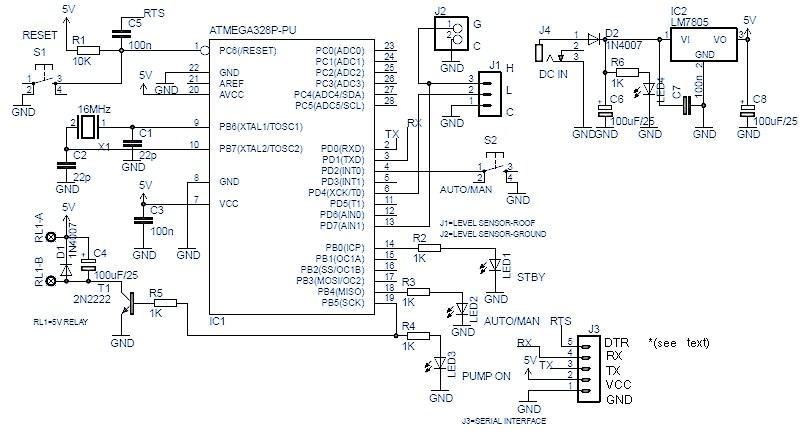 Arduino Automatic Water Tank Pump Switch