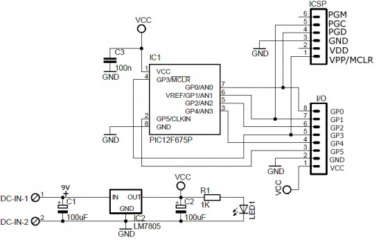 pic icsp programmer circuit