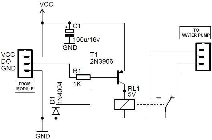 circuit diagram using relay