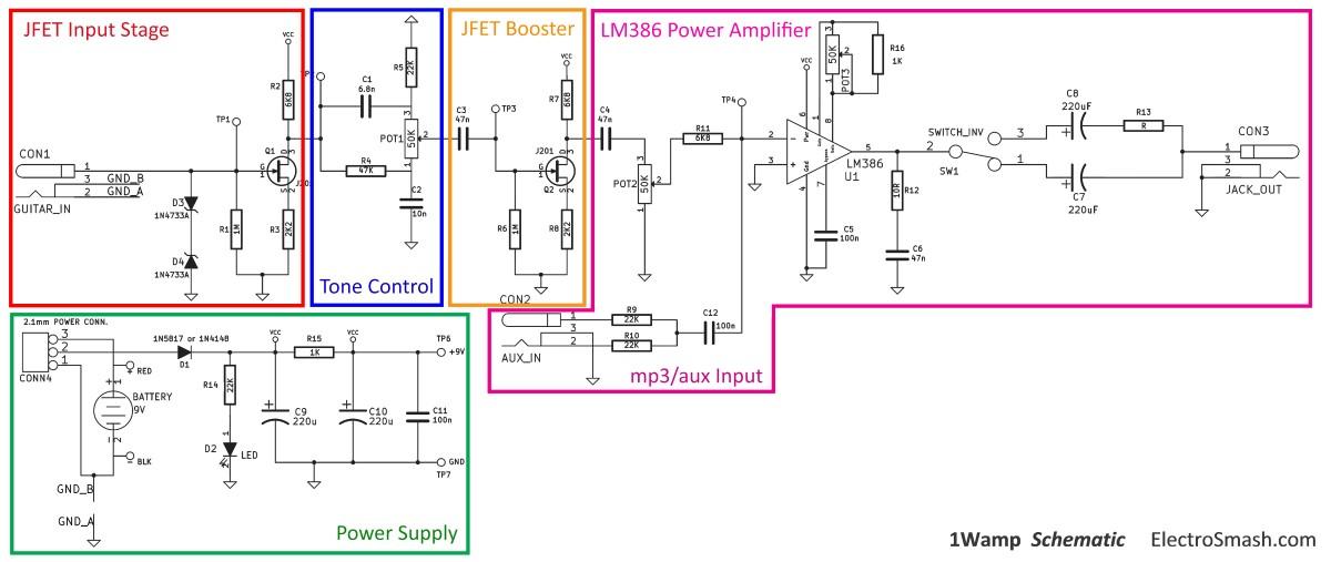 Guitar Amp Diagram Wiring Diagram