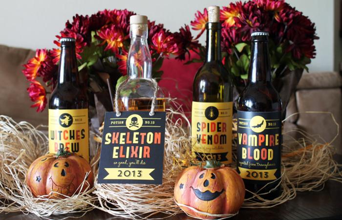Free Printable Halloween Wine Labels
