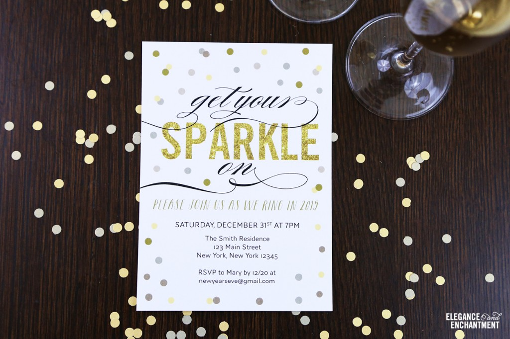 Free Printable New Year\u0027s Eve Party Invitation