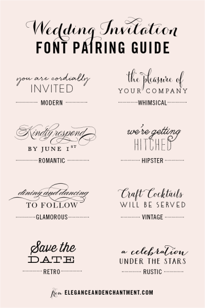 Wedding Invitation Font Pairing Guide