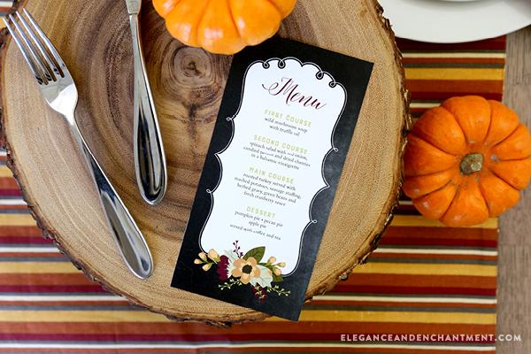 Free Printable Thanksgiving Menu Cards - Worksheet  Coloring Pages