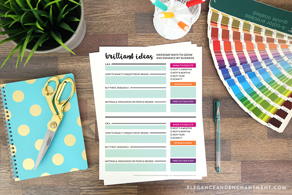 Planning Printables for Bloggers and Small Business Owners