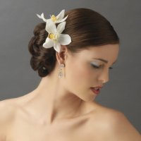 Orchid Floral Hair Clip & Pin - Elegant Bridal Hair ...