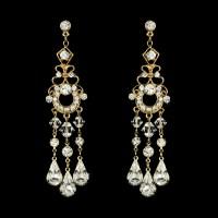 Swarovski Bridal Chandelier Earrings - Elegant Bridal Hair ...