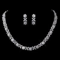 Hermaine CZ Necklace & Earring Set - Elegant Bridal Hair ...