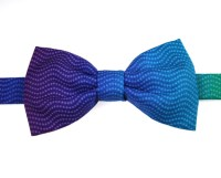 Graded Purple/Aqua Bow Tie - Elegant Extras