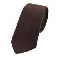 Rustic Brown Mix Tweed Wool Tie - Elegant Extras