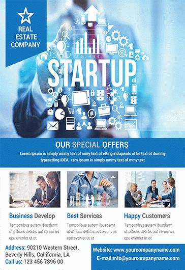 Business Promotion \u2013 Flyer PSD Template \u2013 by ElegantFlyer