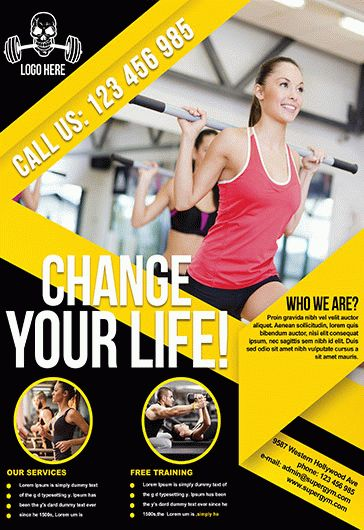 Fitness Flyer Template \u2013 by ElegantFlyer