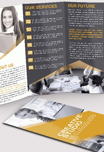 Creative Studio \u2013 Tri-Fold Brochure PSD Template \u2013 by ElegantFlyer - studio brochure