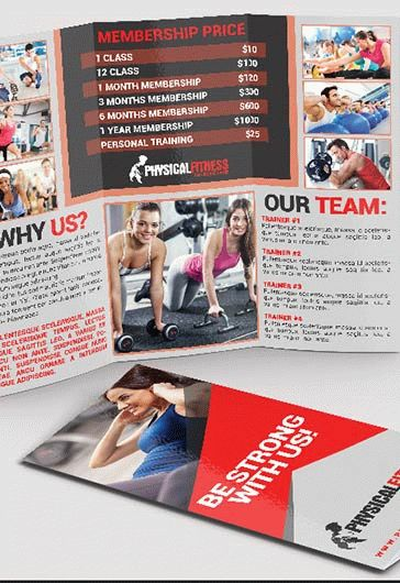 Fitness Flyer Template \u2013 by ElegantFlyer - Fitness Brochure Template