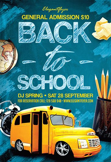 Free Back to School Flyers Templates for Photoshop by ElegantFlyer - free school flyer template